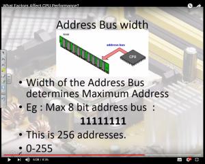 factors affecting-Cpu-performance-address-bus-width