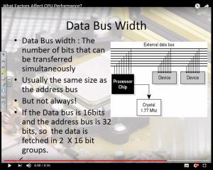 factors affecting-Cpu-performance-data-bus-width
